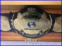 Wwf Wwe Hulk Hogan Signed Big Gold Championship Belt Steiner Authentication