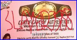 Wwf Wwe Lita Amy Dumas Hand Signed Autographed Deluxe Women's Championship Belt
