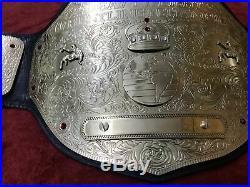 Wwf Wwe Wcw Big Gold Championship Wrestling Belt In Brass Plates