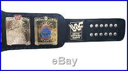 Wwf/wwe European Wrestling Championship Replica Belt In Metal Plates